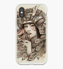 Peacock Samurai iPhone Case