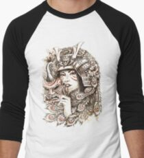 Peacock Samurai Men's Baseball ¾ T-Shirt