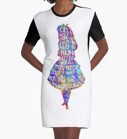 Cita de Alicia en el país de las maravillas - Acuarela colorida Vestido camiseta