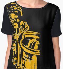 Saxophone Keywork Chiffon Top