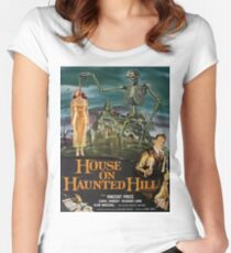 Vintage poster - House on Haunted Hill Women's Fitted Scoop T-Shirt