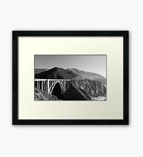 Bixby Creek Bridge Black and White Framed Print