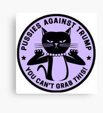 Pussies Against Trump Purple Canvas Print