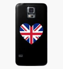 Union Jack Heart Case/Skin for Samsung Galaxy