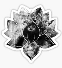 Black Smoke Lotus Sticker