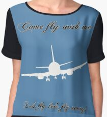 Let's Fly Chiffon Top