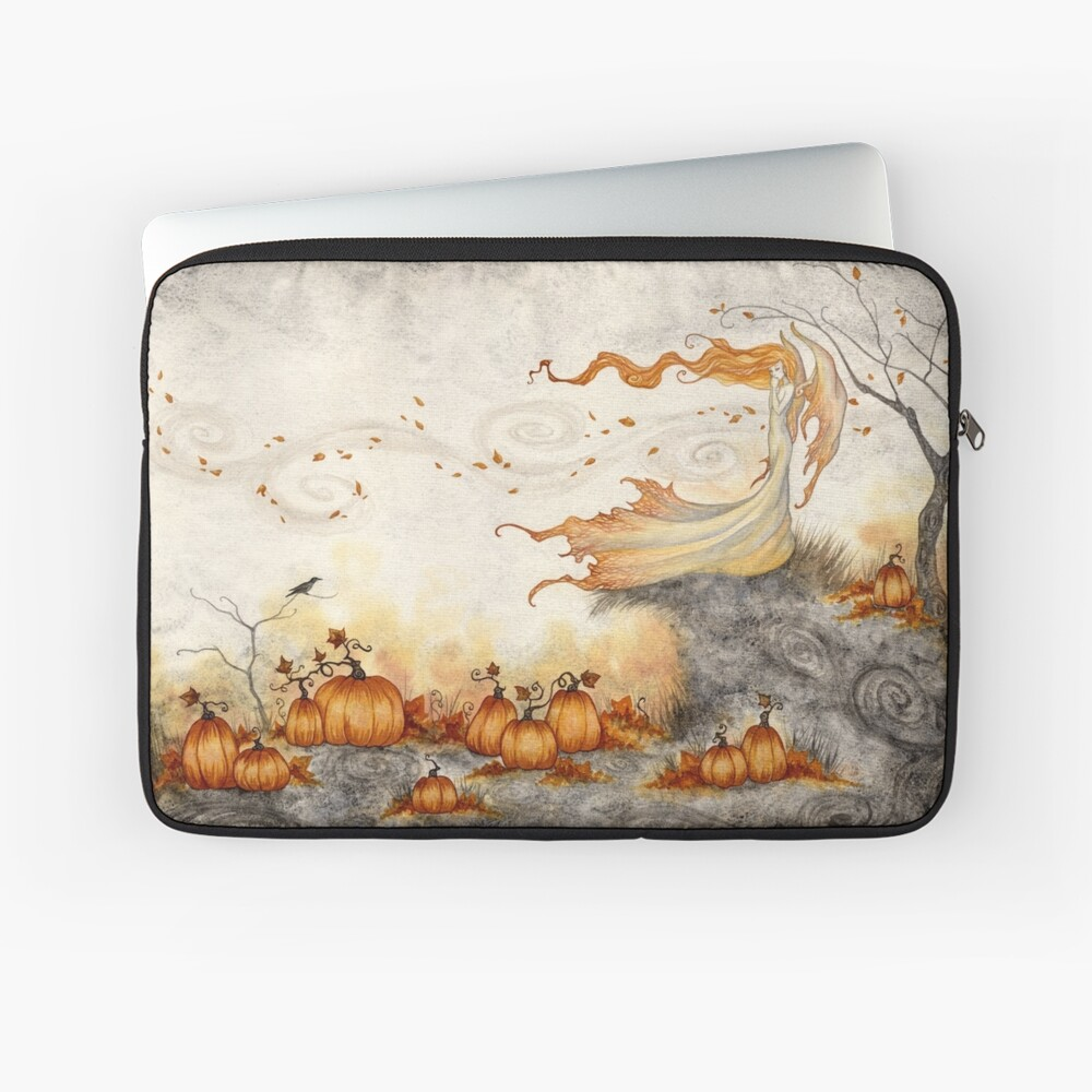Whispers in the Pumpkin Patch Laptop Sleeve