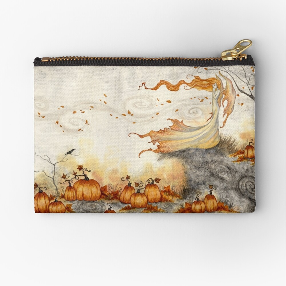 Whispers in the Pumpkin Patch Zipper Pouch