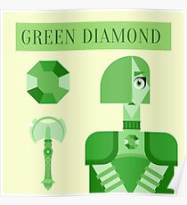 Green Diamond Poster