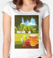 Village Cricket Women's Fitted Scoop T-Shirt