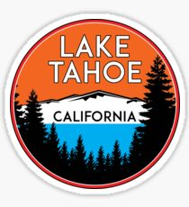 LAKE TAHOE CALIFORNIA REPUBLIC SKIING SKI LAKE BOAT BOATING BEAR SNOWBOARD Sticker