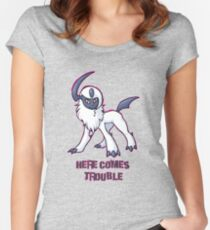 Absol : Here Comes Trouble Women's Fitted Scoop T-Shirt