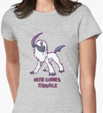 Absol : Here Comes Trouble Women's Fitted T-Shirt