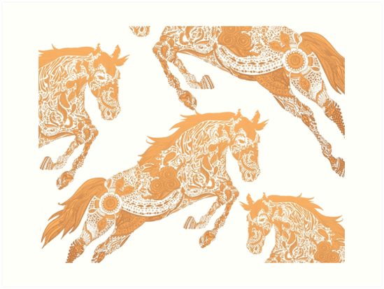 Wild Horses  by scariaink