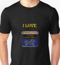 Ich liebe eingemachtes Einhorn Fleisch Unisex T-Shirt