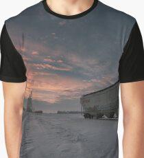 Winter Rail Car Graphic T-Shirt
