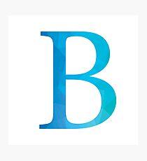 Beta-Blue Photographic Print