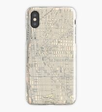 Vintage Map of Detroit (1895) iPhone Case/Skin