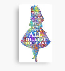 Alice In Wonderland Have I Gone Bonkers Quote Canvas Print