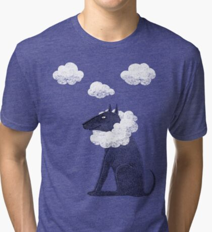 Head in Clouds Dreamer Dog Tri-blend T-Shirt