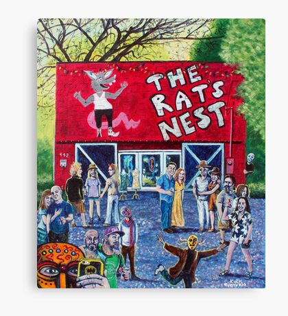 'PARTY AT THE RAT'S NEST' Canvas Print