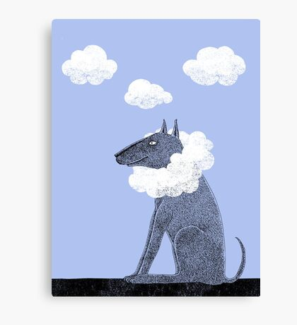 Head in Clouds Dreamer Dog Canvas Print