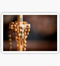 Jesus figurine and rosary  Sticker