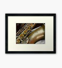 Saxophone Digital Painting Framed Print