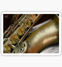 Saxophone Digital Painting Sticker