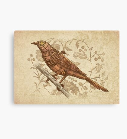 Steampunk Songbird  Canvas Print