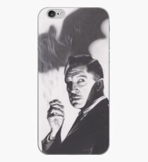 Original Charcoal Drawing of Vincent Price in The Bat iPhone Case