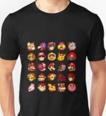 Super Smash Bros. Melee Red Stock Icons T-Shirt