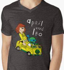 April and Leo Mens V-Neck T-Shirt