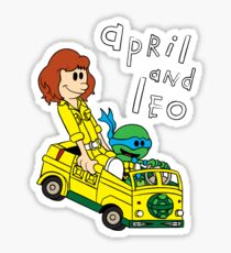 April and Leo Sticker