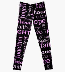 Breast Cancer - Black Leggings