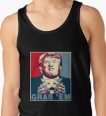 Trump Grab Em Poster Tank Top