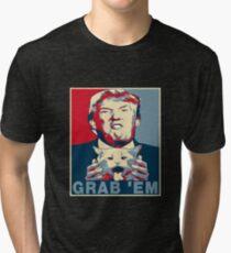 Trump Grab Em Poster Tri-blend T-Shirt
