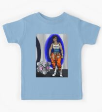Chell and Her Companion Cube Kids Tee