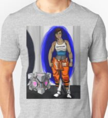 Chell and Her Companion Cube T-Shirt