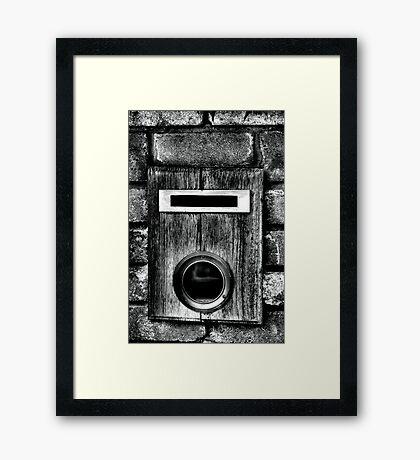Unknown Number Framed Print