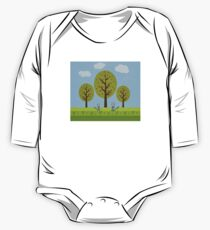 Cute Raccoons and Apple Trees Kids Clothes