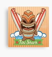 Tiki Shark Canvas Print