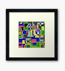 Raw Paint 3 - Abstract Colour Framed Print