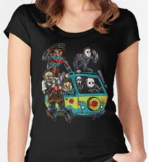 The Massacre Machine Horror Women's Fitted Scoop T-Shirt