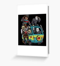 The Massacre Machine Horror Greeting Card