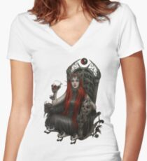 Queen Women's Fitted V-Neck T-Shirt