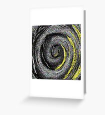 Ripples Of Colour Pixels - Abstract whirlpool Greeting Card