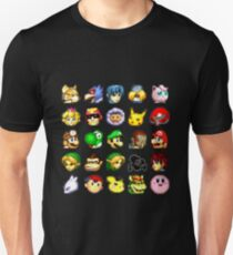 Super Smash Bros. Melee Neutral Stock Icons Unisex T-Shirt