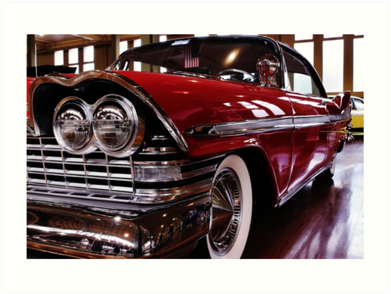 Red Plymouth Fury. by Varcoe