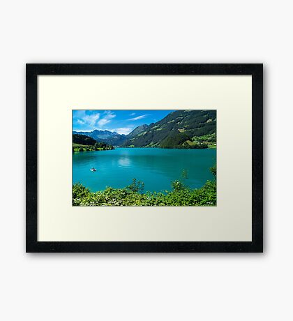 Green Lake Lucerne Framed Print